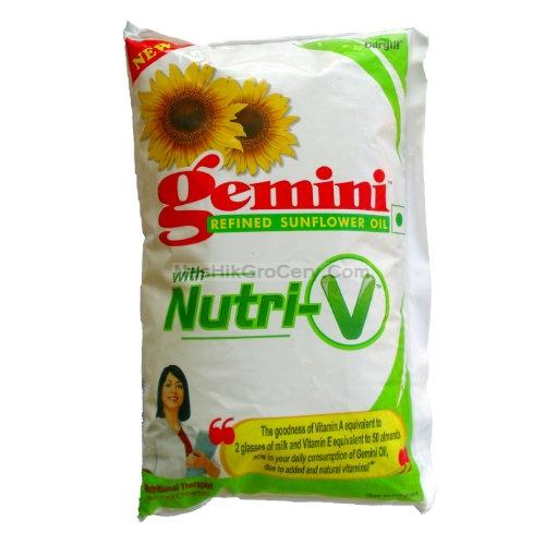 Gemini Refined Sunflower Oil With Nutri V 1 Litter Oil